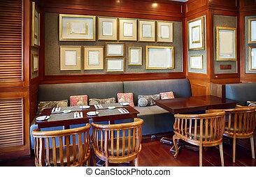 decoration in restaurant - modern restaurant in colonial...