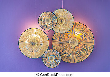 Decoration lamp on wall