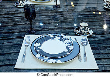 Decoration luxury tableware for show and sale