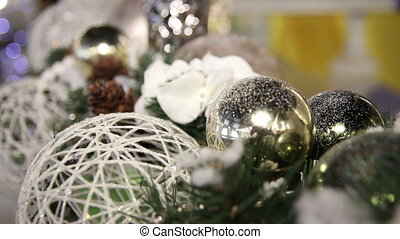 Decoration of Christmas balls