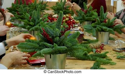 Decoration of Christmas gift bouquets - Decoration of...