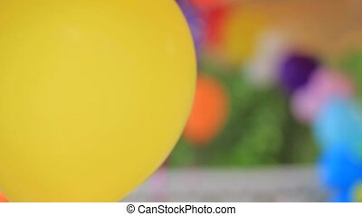 Decoration Of Colorful Balloons At Nature