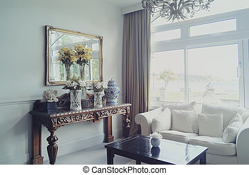 Decoration of entree hall in classic hotel stock photos - Search ...