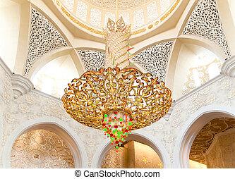 Decoration of Sheikh Zayed Mosque. Abu Dhabi