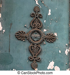 decoration on a door