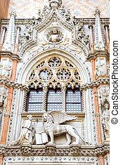 Decoration on a facade of basilica of Saint Mark