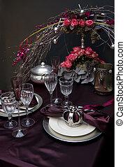 decoration on christmas table