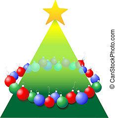 Decoration Ornaments ring around Christmas Tree shape