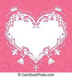 Decoration seamless heart frame