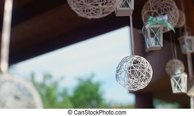 Decoration Wedding Hand Braided Rattan Ball Lantern