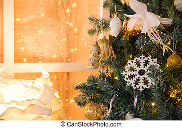 Decoration with a Christmas tree