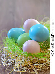 Decoration with easter eggs