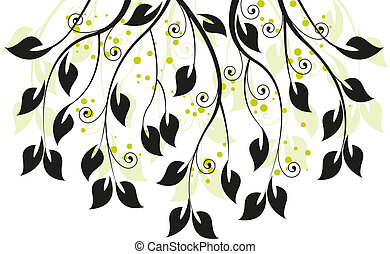 branches - decoration with leaves and branches
