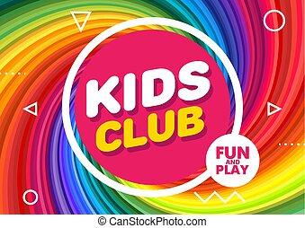 decoration., znak, chorągiew, jasny, dzieciska gra, room., nowoczesny, klub, wektor, ilustracja, pokój dziecinny, zabawny, dzieci, style.