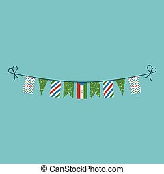 Decorations bunting flags for Equatorial Guinea national day...