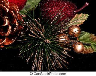 Decorations - christmas decorations on black