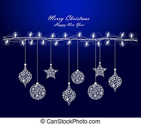 decorations - Background of Christmas lights with...
