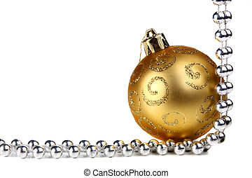 decorations for new year and christmas isolated on white...