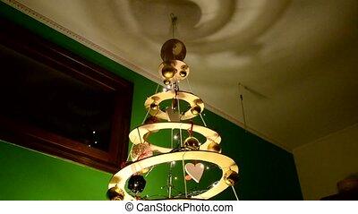 Decorations of an original Christmas tree