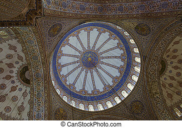 Decorations of the Blue Mosque dome ceiling, Istanbul