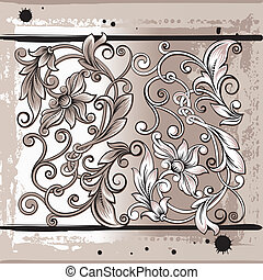 Decorativ Floral Elements, editable vector illustration