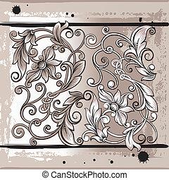 Decorativ Floral Elements, editable vector illustration