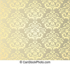 Decorativ floral ornament - Vector art background with ...