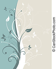 Decorative abstract - Abstract floral design