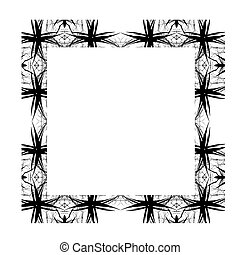 Decorative Abstract Digital Design - Square Frame Background