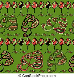 Decorative abstract ornamental seamless pattern.
