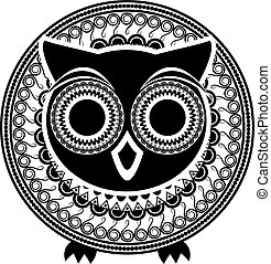 Decorative abstract owl