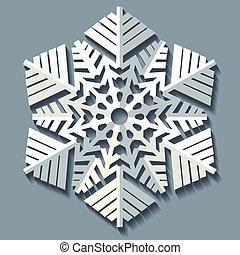 Decorative abstract snowflake.