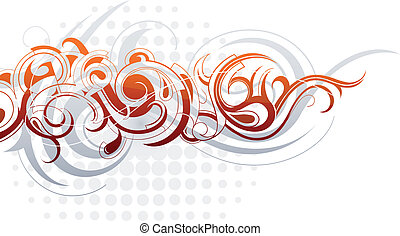 Decorative abstraction - Decorative artwork with creative...