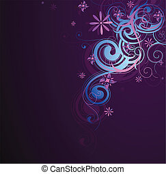 Decorative abstraction with floral