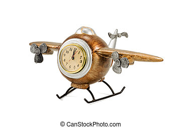 Decorative airplane with clock