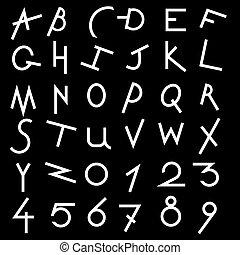Decorative alphabet vector  set