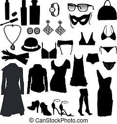 Decorative and feminine clothing items