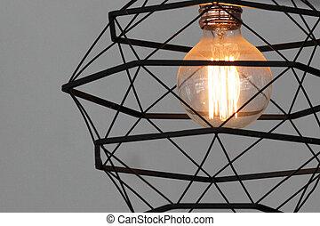 decorative antique tungsten light bulb