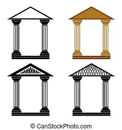 Decorative arches. - Four decorative arches on a white...
