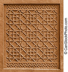 Decorative architectural element with ornament cutting out in st