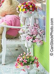 Decorative arrangement beautiful fl