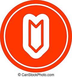 decorative arrow circular icon