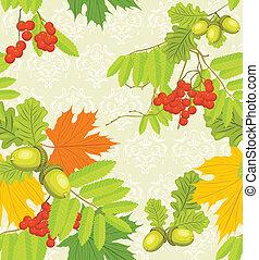 Decorative autumn background