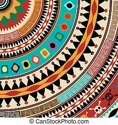 Aztec mandala icon