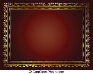 Decorative background - Background with decorative gold...