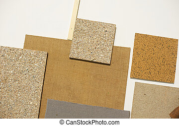 Decorative background of wooden different textures square