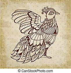 Decorative background with bird