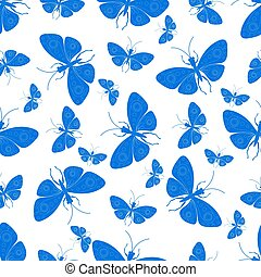 Decorative background with butterflies