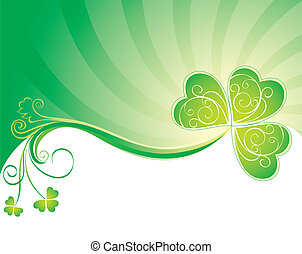 Decorative background with clover