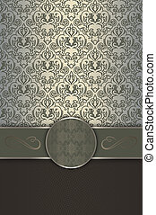 Decorative background with elegant border and frame.